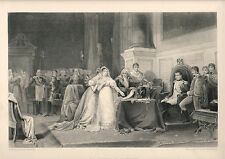 Aquatinta Radierung The Divorce of Josephine France Militaire Napoleon (Ra29)