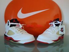 New 2006 Nike Air Jordan V 5 Retro WHITE FIRE RED 10.5 US 44.5 EUR 4 3 2 1