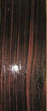 "Macassar Ebony wood veneer 4"" x 12"" prefinished on 5/8"" MDF panel board ""AA"""