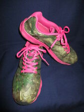 REALTREE REAL GIRL CAMO COBRA JR SNEAKERS HOT PINK ACCENTS SIZE 6 M NEAR MINT