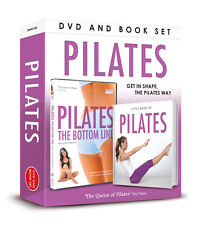PILATES THE BOTTOM LINE DVD & BOOK OF PILATES DVD & Book Gift set HEALTH FITNESS