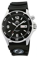 Orient FEM65004BW Men's Black Mako Rubber 200M Automatic Diver Watch  BOX