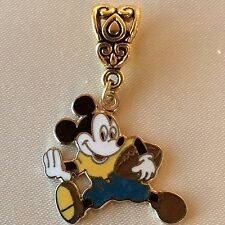 Walt Disney FOOTBALL MICKEY MOUSE Gold Pl Dangle Pendant European Bracelet Charm