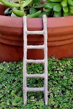 "Miniature Dollhouse FAIRY GARDEN Accessories ~ Rustic Natural 5"" Straight Ladder"
