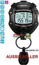 AUSTRALIAN SELLER CASIO STOPWATCH HS-80TW-1 HS80 FOOTBALL TIMER 12-MONTH WARANTY