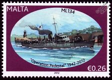HMS ML134 Fairmile B Motor Launch Warship WWII Malta Convoys Stamp