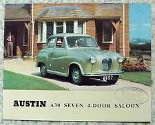 AUSTIN A30 SEVEN Car Sales Brochure c1954 #850B
