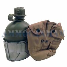 Genuine USGI ALICE Desert Tan Canteen Cover WITH CANTEEN AND CUP USED