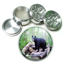 Black Bear Aluminum Grinder D4 63mm 4 Piece Forest, Nature, Grizzly