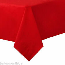 54x108in Red Plastic Tablecover Table Cover Cloth Wedding Catering