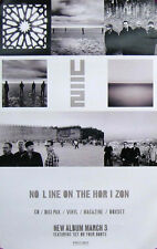U2 POSTER, NO LINE ON THE HORIZON (L13)