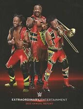2015 WWE World Wrestling Entertainment NYSE Annual Report Collector Item New Day