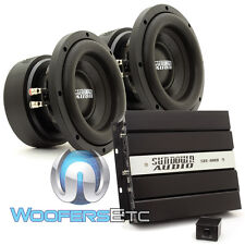 "pkg (2) SUNDOWN AUDIO E8 V.5 D4 8"" SUBWOOFERS SPEAKERS + SAE-600D BASS AMPLIFIER"