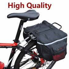 New Cycling Bike Bicycle Carrier Basket Rack Rear Seat Double Pannier Bag Red
