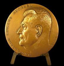 Médaille Eugène Aujaleu directeur de l'INSERM Val de Grâce Toulouse 73mm medal