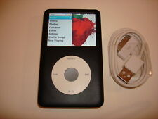 APPLE  IPOD  CLASSIC  6TH GEN.  CUStOM  BLACK  160GB...NEW  HARD DRIVE...