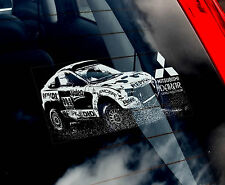 Mitsubishi 4x4 - Dakar Rally Car Window Sticker -Pajero,L200,Warrior,Shogun Sign