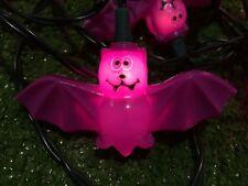 Set Of Ten Noma Halloween Purple Bat Novelty Lights