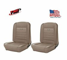 1964-66 Mustang Front Bucket Seat Deluxe PONY Upholstery - Parchment - In Stock!