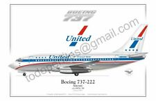 Boeing 737 - United - Poster Profile