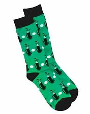 Hanes Men's Golf Crew Socks 1 Pair Green, Black & White  10-13