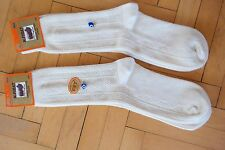 Turkish %100 Merino Wool Men Socks Cream-Geometric Print-Warmly-1 Lot 2 Pairs
