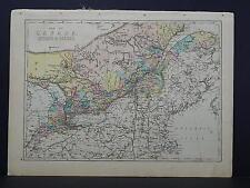 Antique Map, 1875 Canada, Ontario, Quebec