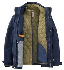 $298 NWT TIMBERLAND MEN'S 3-IN-1 WATERPROOF FIELD JACKET Hooded A1AIF433 Navy. M