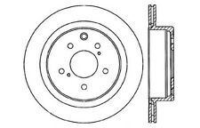 Disc Brake Rotor-High Performance Slotted Centric fits 89-96 Nissan 300ZX
