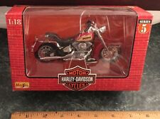 "Die-Cast 1""18 Harley Davidson 1986 FLST Heritage Softail Evolution Series 5"