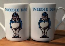 ALICE IN WONDERLAND FILM BOOK BONE CHINA MUG: TWEEDLE DEE & DUM - NEW POST WW