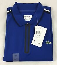 Lacoste Men's 1/4 Zip Polo Shirt Royal Navy Blue 3J1 Size EU 7 US 2XL