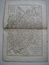 CARTE de la RUSSIE partie européenne par BONNE carte ancienne 1781  8