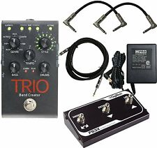 NEW Digitech Trio Band Creator Pedal + FS3X Pedal + Power Supply & 3 Cables