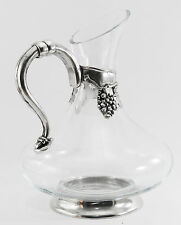 Decanter Bottiglia vetro peltro / Pewter decanter bottle glass wine new italy