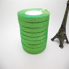 """DIY 5yards 3/8 """"10mm glitter ribbons Bling for Bows and Wreaths decorated AB07"""