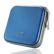 New 40 Disc Cd Dvd Wallet Album Plastic Storage Organizer Holder Case Bag Blue