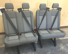 2015 Ford Transit Van 4 Person Bench 2 double Seats Gray CLOTH rear row+Brackets
