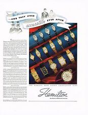 1936 BIG Vintage Hamilton Wrist Watches Watch Models Names Prices Photo Print Ad