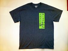 "New Gray ""Just Ride"" T Shirt Mens LARGE Gildan DryBlend Olney Bicycle Classic"