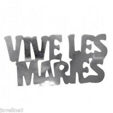 Confettis de table Vive les Mariés Argent : Décoration de table mariage