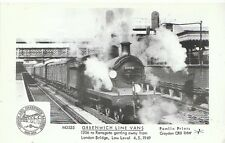 Railway Postcard - Greenwich Line Vans - 1306 to Ramsgate - Low Level 1949 1948