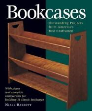 BOOKCASES plans instructions 11 projects woodworking Niall Barrett soft book