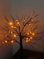Spooky Halloween party/prop 24 Led Naranja Calabaza árbol lights/window/table / Tienda