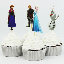 24pcs Frozen Cake Cupcake Topper kids birthday Theme party Decoration Standup UK