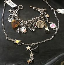 Vintage Lucky Brand Rock & Roll Charm-Style Necklace & Bracelet Set NEW W TAGS