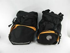 DECATHLON LARGE BICYCLE CYCLING TOURING PANNIERS BAGS NEW WITH BACKPACK BAG