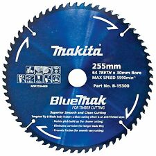 Makita BLUEMAK MITRE SAW BLADE 255mm Anti-Friction Coating 64 Teeth Japan Brand