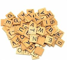 100 Wooden Scrabble Tiles Letters Varnished Alphabet Scrabbles Letters kids