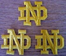 "Lot of 2 Notre Dame Fighting Irish 2"" Embroidered ND Letter Patches GTC"
